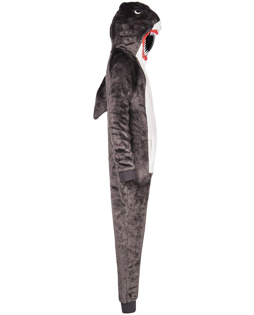 Nachtwäsche - Grau - Onesie Hai